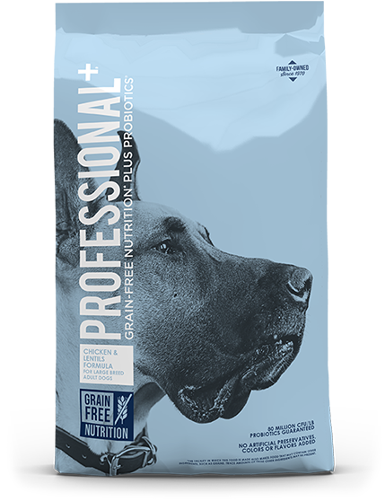 Product Bag of Chicken and Lentils Formula for Large Breed Adult Dogs | Professional Plus Pet Food